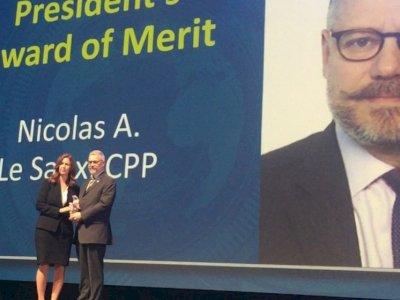 Nicolas Le Saux, Président d'ATAO/UNIPROTECT, récompensé par l'ASIS au niveau mondial.